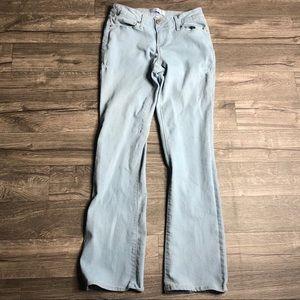 Light Blue Grey Flare Jeggings Jeans